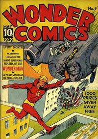 Wonder Comics front cover.